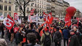 Photo des manifestants de Force Ouvrière (FO)