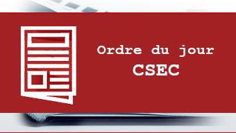 ordre du jour du CSEC
