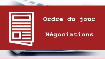 ordre du jour des négociations